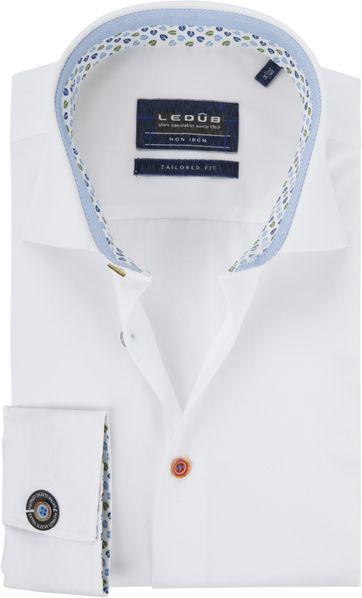 Ledub Hemd Button Weiß SL7