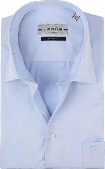 Ledub Hemd Korte Mouwen Blauw