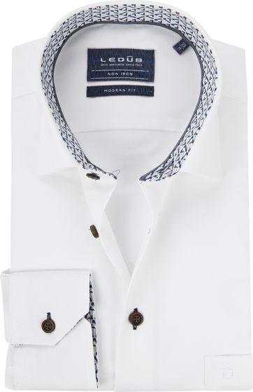 Ledub Hemd MF Dessin Weiß