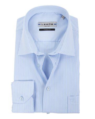 Ledub Hemd Modern-Fit Streifen Blau