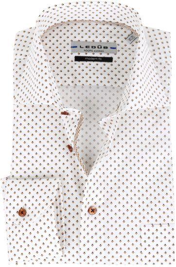 Ledub Hemd Muster Weiß