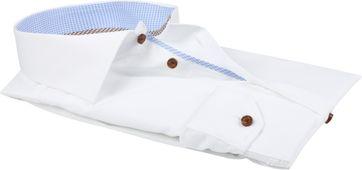 Ledub Hemd Non Iron Wit Blauw