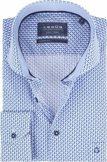 best authentic 7d5ae 542f2 Ledub Hemd Print Blau Muster