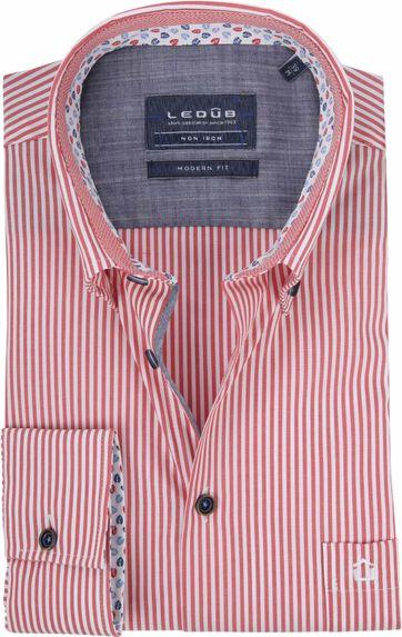 Ledub Hemd Rot Streifen
