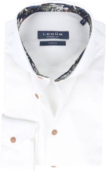 Ledub Hemd Stretch Weiß