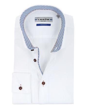 Ledub Hemd Tailored Fit Bügelfrei Weiß