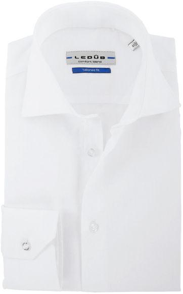 Ledub Hemd Uni White Twill
