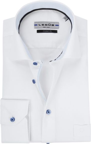 Ledub Hemd Weiß Bügelfrei MF