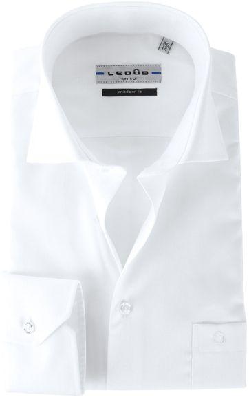 Ledub Hemd Weiß Bügelfrei