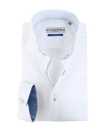 Ledub Hemd Wit + Blauw