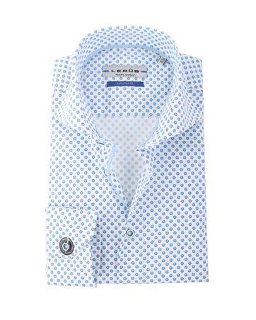 Ledub Hemd Wit +Blauw SL7