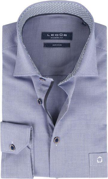 Ledub Non Iron Cotton Shirt Muscle Blue