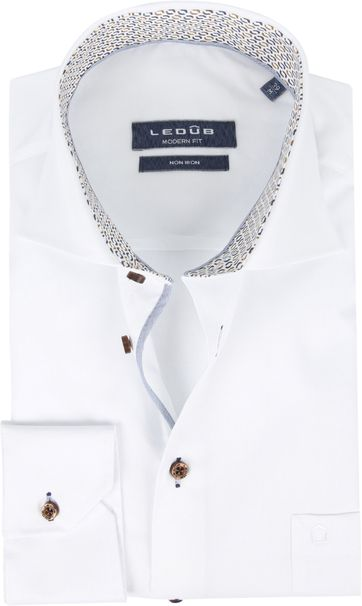 Ledub Non Iron Shirt Muscle White