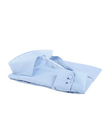 Detail Ledub Overhemd Blauw