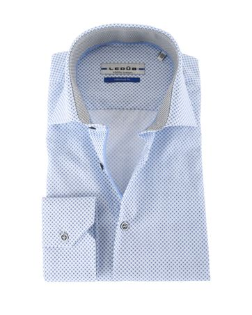 Ledub Overhemd Blauw Bloem