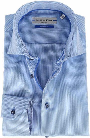 Ledub Overhemd Blauw Dessin