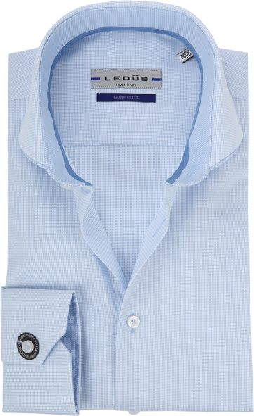 Ledub Overhemd Blauw Non Iron SL7