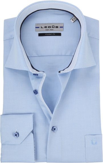 Ledub Overhemd Blauw Non Iron TF