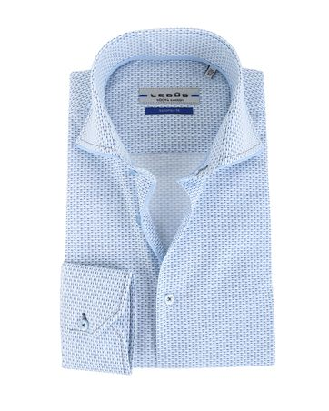 Ledub Overhemd Blauw Print