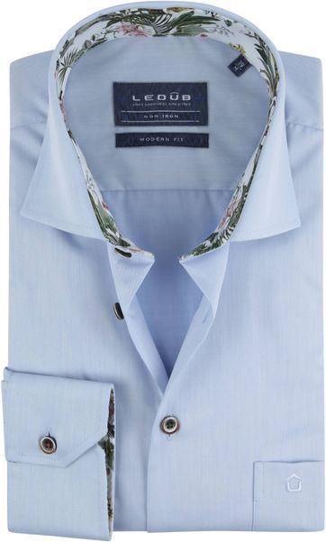 Ledub Overhemd Blauw Tropisch