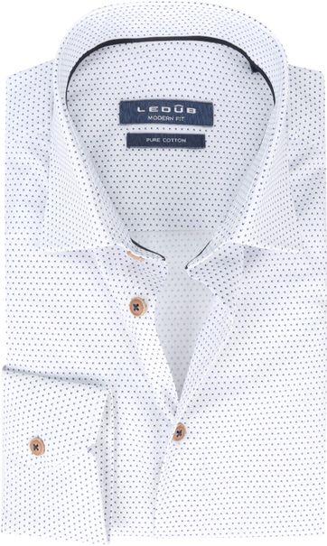 Ledub Overhemd Blauw Wit