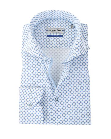 Ledub Overhemd Blauw-Wit Ruit