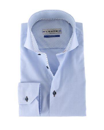 Ledub Overhemd Blauwe Ruit