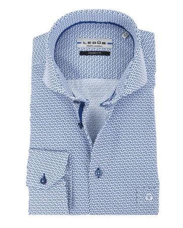 Ledub Overhemd Cirkels Blauw