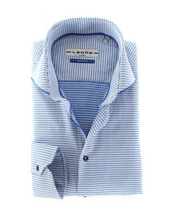 Ledub Overhemd Dessin Blauw