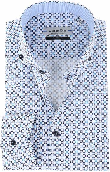 Ledub Overhemd Dessin Wit