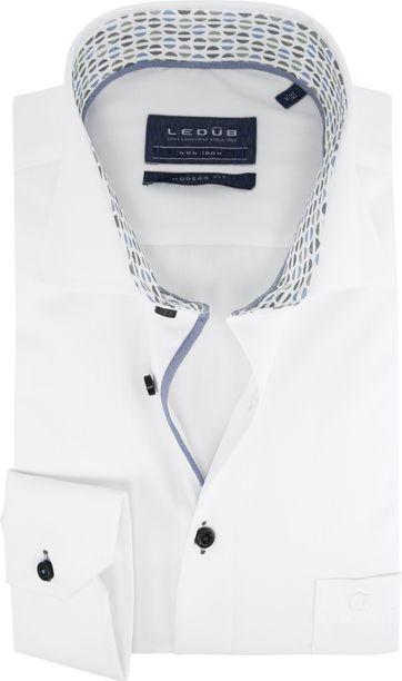 Ledub Overhemd Dessin Wit MF