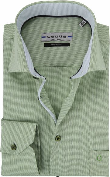 414b4772ec3 Ledub Overhemd Groen Non Iron MF