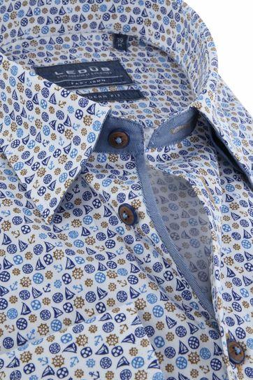 Ledub Overhemd MF Blauw Schepen