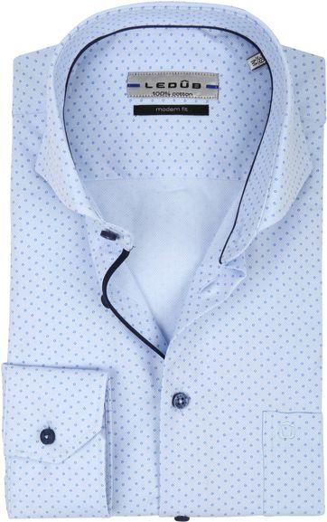 Ledub Overhemd MF Cirkel Blauw