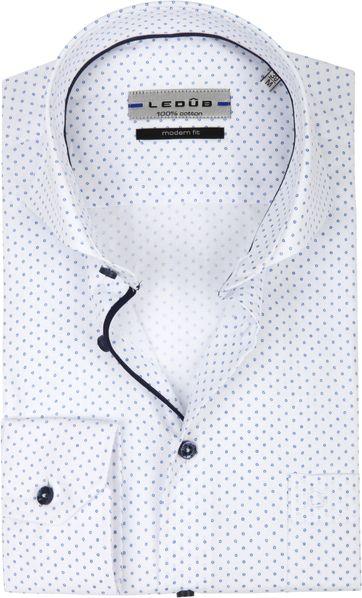 Ledub Overhemd MF Cirkel Wit