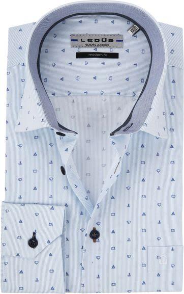 Ledub Overhemd MF Dessin Blauw