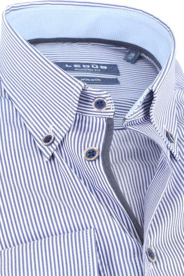 Ledub Overhemd MF Strepen Blauw