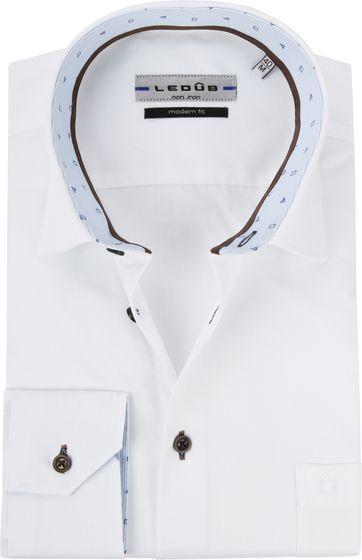 Ledub Overhemd MF Twill Wit