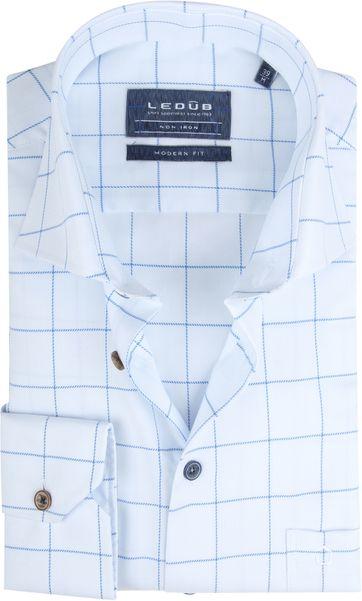 Ledub Overhemd MF Wit Ruiten
