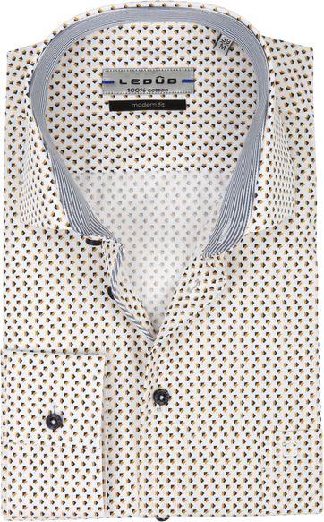 Ledub Overhemd Patroon Geel