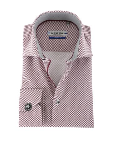 Ledub Overhemd Rood Bloem SL7