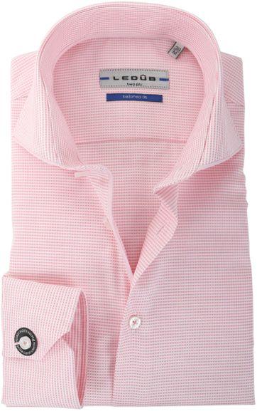 Ledub Overhemd Roze-Wit Ruit SL7