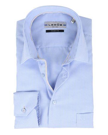 Ledub Overhemd Ruit Blauw