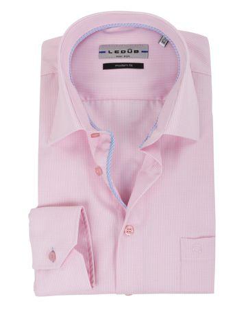 Ledub Overhemd Ruit Roze
