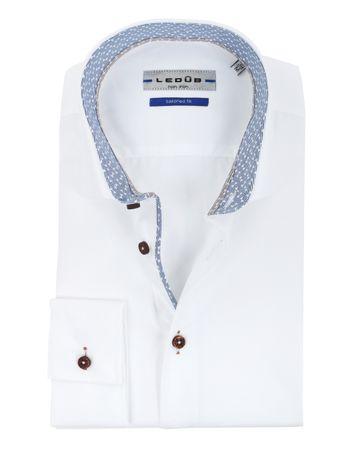 Ledub Overhemd SF Strijkvrij Wit