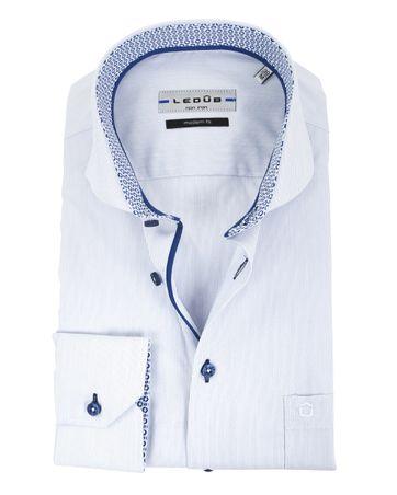 Ledub Overhemd Streep Blauw