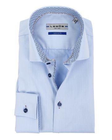 Ledub Overhemd Strijkvrij Blauw