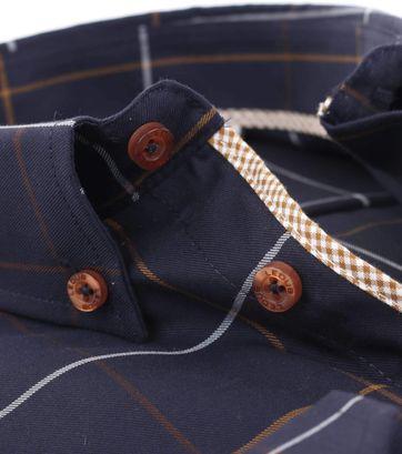 Ledub Overhemd Strijkvrij Navy Ruit