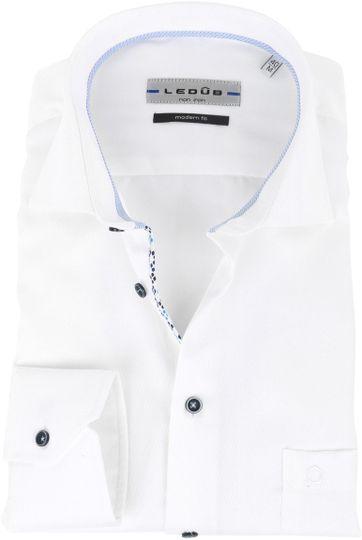 Ledub Overhemd Strijkvrij Wit