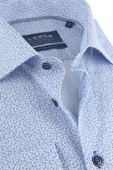 Ledub Overhemd TF Blauw Anker SL7
